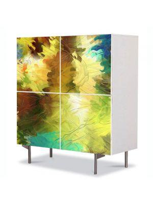 Comoda cu 4 Usi Art Work Abstract Culori difuze, 84 x 84 cm
