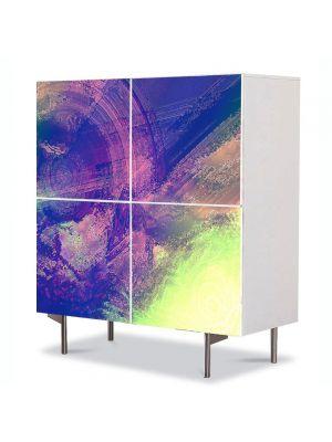 Comoda cu 4 Usi Art Work Abstract Mov erodat, 84 x 84 cm