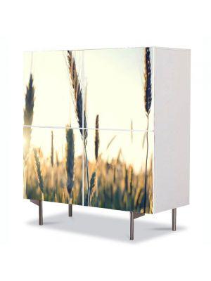 Comoda cu 4 Usi Art Work Abstract Spice in soare, 84 x 84 cm