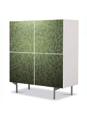 Comoda cu 4 Usi Art Work Abstract Textura vegetala, 84 x 84 cm