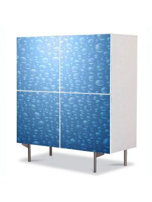 Comoda cu 4 Usi Art Work Abstract Bule de apa, 84 x 84 cm