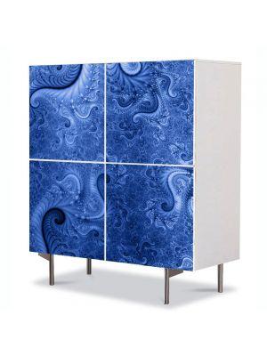 Comoda cu 4 Usi Art Work Abstract Spirale reci, 84 x 84 cm