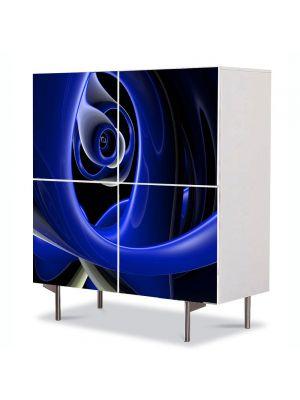 Comoda cu 4 Usi Art Work Abstract Spirala, 84 x 84 cm