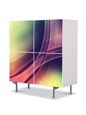 Comoda cu 4 Usi Art Work Abstract Echilibru, 84 x 84 cm