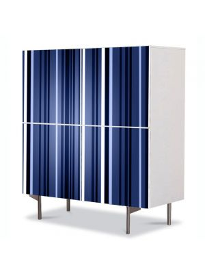 Comoda cu 4 Usi Art Work Abstract Vertical albastru inchis, 84 x 84 cm