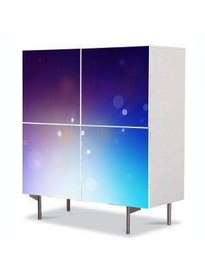 Comoda cu 4 Usi Art Work Abstract Eruptie luminoasa, 84 x 84 cm