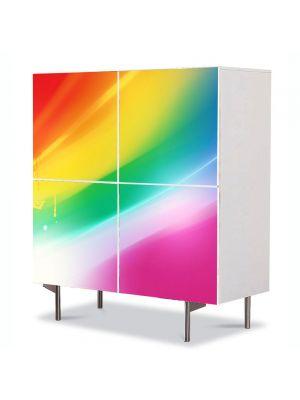 Comoda cu 4 Usi Art Work Abstract Paleta moderna, 84 x 84 cm