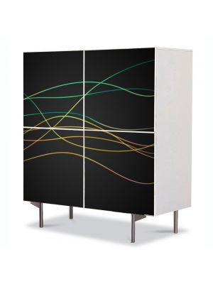 Comoda cu 4 Usi Art Work Abstract Linii abstract, 84 x 84 cm