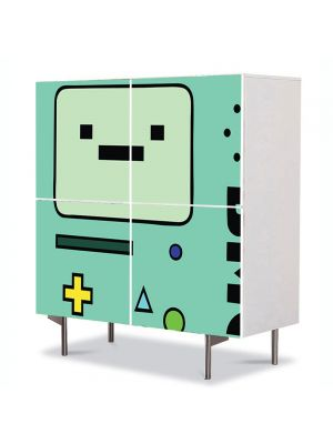 Comoda cu 4 Usi Art Work pentru Copii Animatie Adventure Time Beemo , 84 x 84 cm