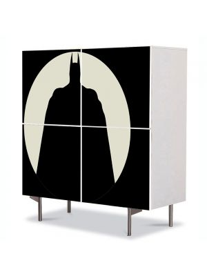 Comoda cu 4 Usi Art Work pentru Copii Animatie Batman in umbra , 84 x 84 cm