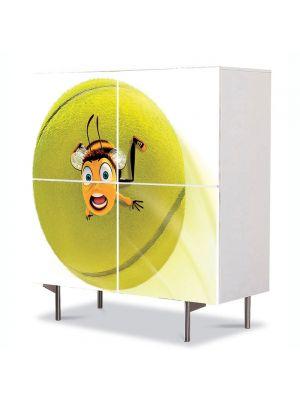 Comoda cu 4 Usi Art Work pentru Copii Animatie Oops Bee Movie , 84 x 84 cm