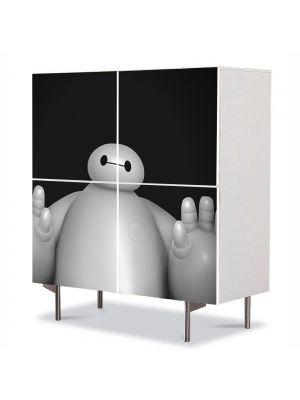 Comoda cu 4 Usi Art Work pentru Copii Animatie Big Hero 6 Baymax , 84 x 84 cm