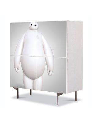 Comoda cu 4 Usi Art Work pentru Copii Animatie Big Hero 6 Baymax cel mare si alb , 84 x 84 cm