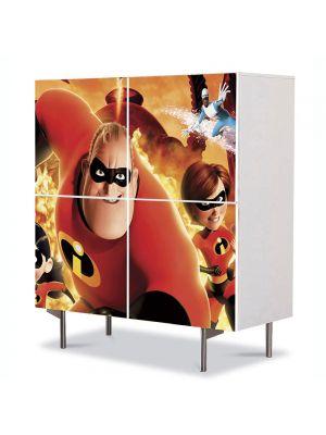 Comoda cu 4 Usi Art Work pentru Copii Animatie Incredibles Movie , 84 x 84 cm