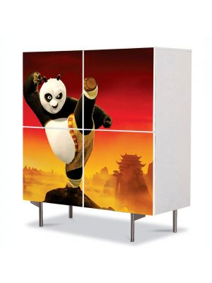Comoda cu 4 Usi Art Work pentru Copii Animatie Kung Fu Panda 2 2011 , 84 x 84 cm