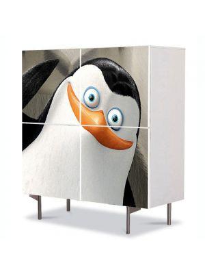 Comoda cu 4 Usi Art Work pentru Copii Animatie Pingiunii Madagascar , 84 x 84 cm
