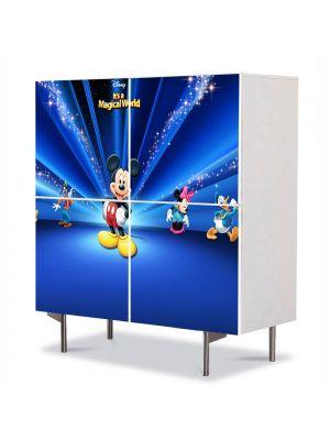 Comoda cu 4 Usi Art Work pentru Copii Animatie Disney Personajele , 84 x 84 cm
