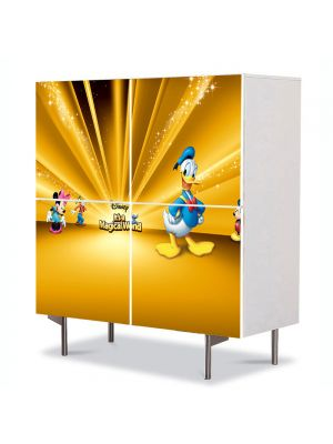 Comoda cu 4 Usi Art Work pentru Copii Animatie Disney Personaje , 84 x 84 cm