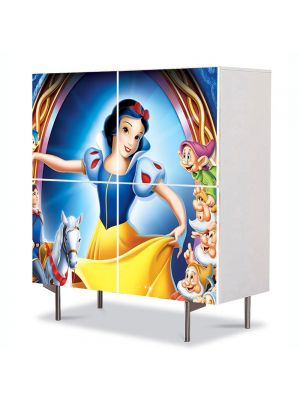 Comoda cu 4 Usi Art Work pentru Copii Animatie Disney Alba ca Zapada , 84 x 84 cm