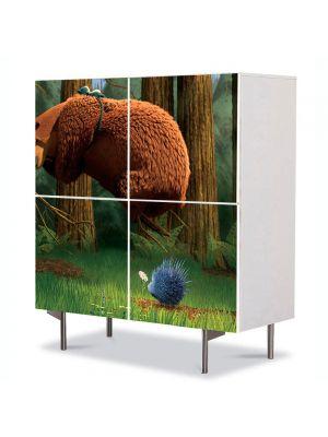 Comoda cu 4 Usi Art Work pentru Copii Animatie Open Season Boog , 84 x 84 cm