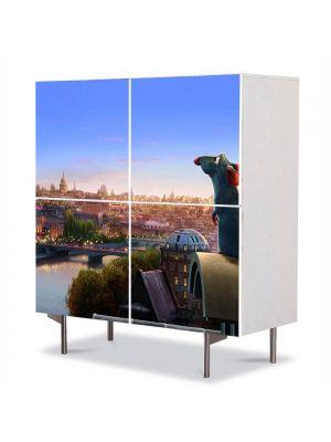 Comoda cu 4 Usi Art Work pentru Copii Animatie Ratatouille Remy , 84 x 84 cm