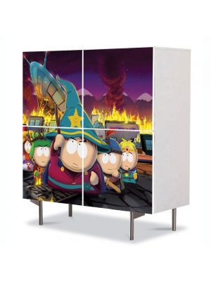 Comoda cu 4 Usi Art Work pentru Copii Animatie South Park The stick of Truth , 84 x 84 cm