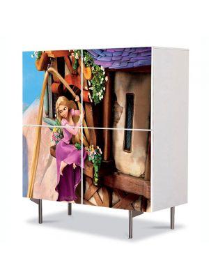 Comoda cu 4 Usi Art Work pentru Copii Animatie Tangled Rapunzel , 84 x 84 cm