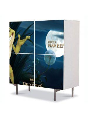 Comoda cu 4 Usi Art Work pentru Copii Animatie Printesa si Broasca Printul Naveen , 84 x 84 cm