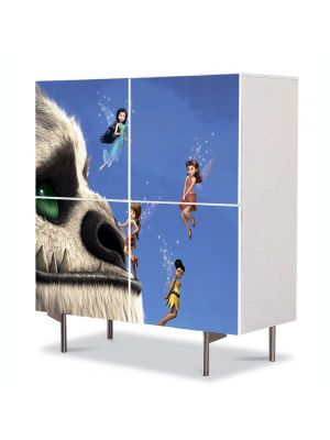 Comoda cu 4 Usi Art Work pentru Copii Animatie Tinkerbell Movie , 84 x 84 cm