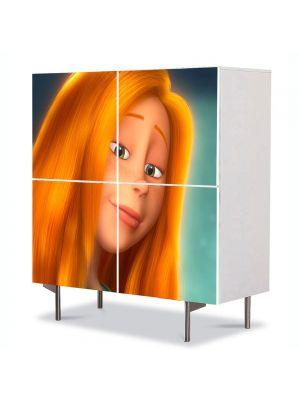 Comoda cu 4 Usi Art Work pentru Copii Animatie Dr Seuss the Lorax Audrey , 84 x 84 cm