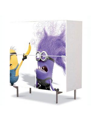 Comoda cu 4 Usi Art Work pentru Copii Animatie Minionul Rau Violet , 84 x 84 cm