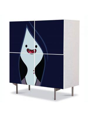 Comoda cu 4 Usi Art Work pentru Copii Animatie Adventure Time Marceline , 84 x 84 cm