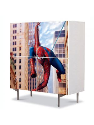 Comoda cu 4 Usi Art Work pentru Copii Animatie Spiderman Marvel , 84 x 84 cm