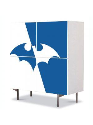 Comoda cu 4 Usi Art Work pentru Copii Animatie Batman Logo , 84 x 84 cm
