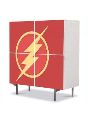 Comoda cu 4 Usi Art Work pentru Copii Animatie Flash Marvel , 84 x 84 cm