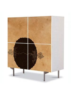 Comoda cu 4 Usi Art Work pentru Copii Animatie 2 copacei , 84 x 84 cm