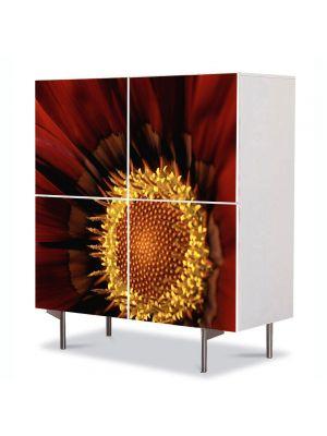 Comoda cu 4 Usi Art Work Flori Floare Gazania, 84 x 84 cm