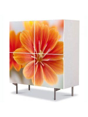 Comoda cu 4 Usi Art Work Flori Floare Lewisia, 84 x 84 cm