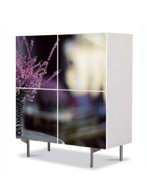 Comoda cu 4 Usi Art Work Flori Levantica in cos, 84 x 84 cm