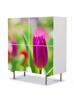 Comoda cu 4 Usi Art Work Flori Lalea, 84 x 84 cm