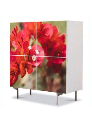 Comoda cu 4 Usi Art Work Flori Flori rare, 84 x 84 cm