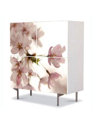 Comoda cu 4 Usi Art Work Flori Floare roz japoneza, 84 x 84 cm