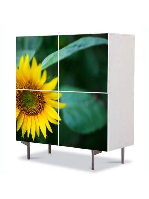 Comoda cu 4 Usi Art Work Flori Pui de floricica soarelui, 84 x 84 cm