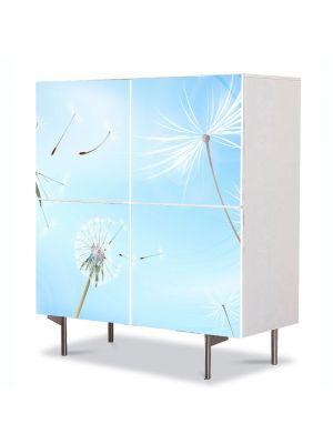 Comoda cu 4 Usi Art Work Flori Sufla in papadie, 84 x 84 cm