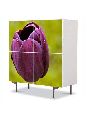 Comoda cu 4 Usi Art Work Flori O lalea, 84 x 84 cm