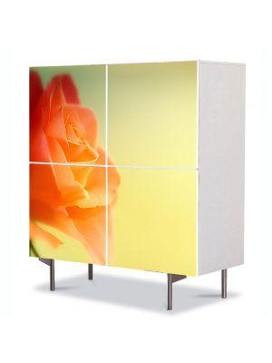 Comoda cu 4 Usi Art Work Flori Trandafir visator, 84 x 84 cm