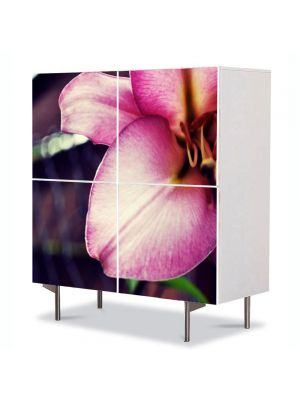Comoda cu 4 Usi Art Work Flori Floare speciala, 84 x 84 cm