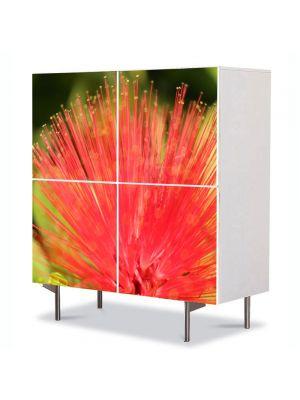 Comoda cu 4 Usi Art Work Flori Floare aparte, 84 x 84 cm