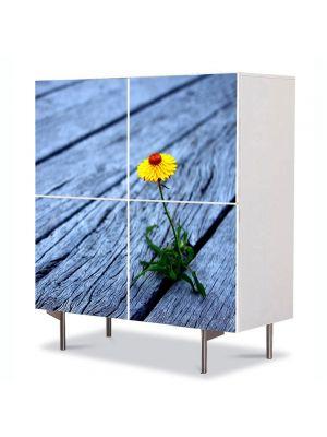 Comoda cu 4 Usi Art Work Flori Putere, 84 x 84 cm