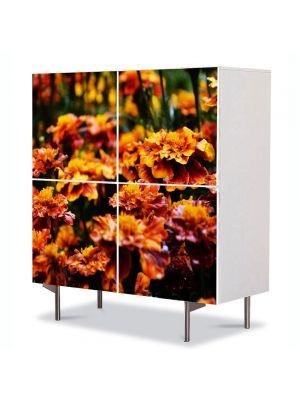 Comoda cu 4 Usi Art Work Flori Flori de gradina, 84 x 84 cm